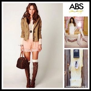 16376c8a51d ABS TALL OVER THE KNEE CABLE KNIT BOOT SOCKS